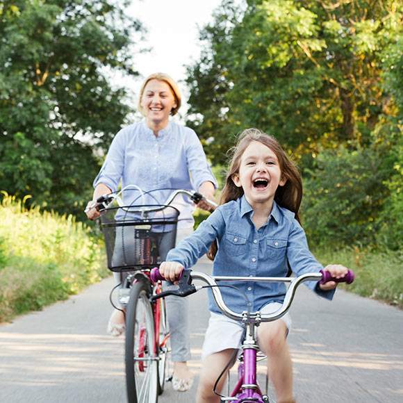 Mother and daughter enjoy the protection of disability insurance