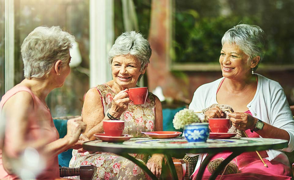 women drinking tea